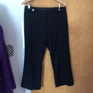 Navy cropped Capri/Ankle Pant